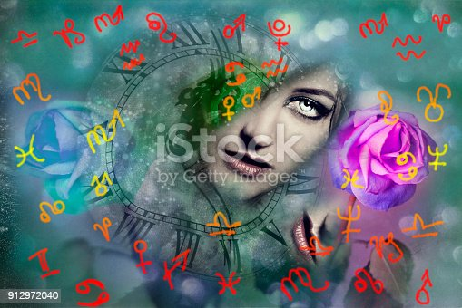 istock Woman and astrology 912972040