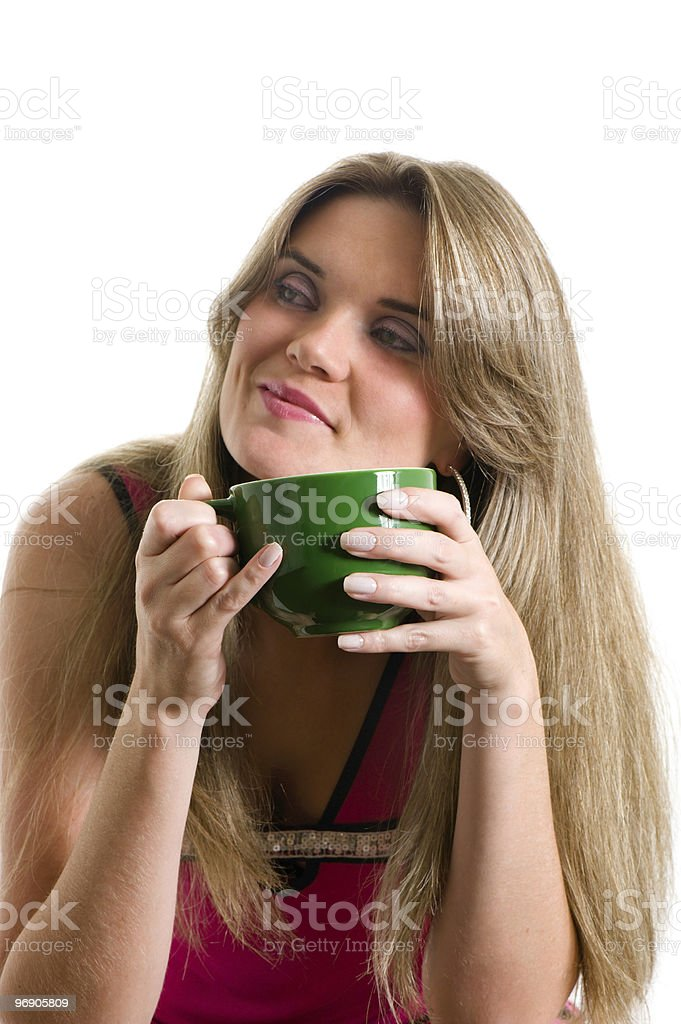 Woman and Cup royalty-free stock photo
