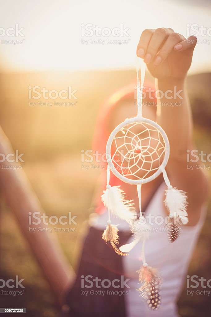 woman and dream catcher - Photo