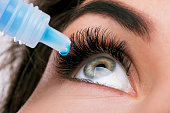 istock Woman and eye drops 1182318206