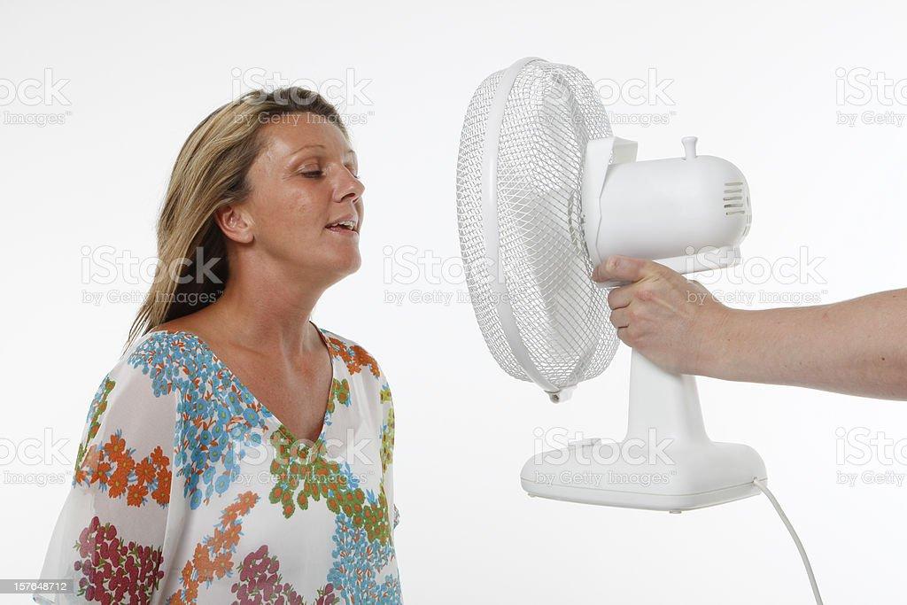 Woman and fan
