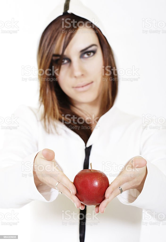Woman and fruit royalty-free stock photo