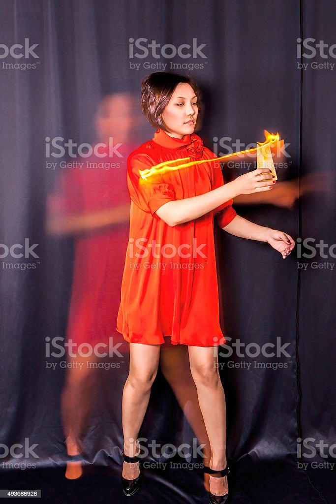 81ba59f1868 Woman And Ghost Stock Photo   More Pictures of 2015 - iStock