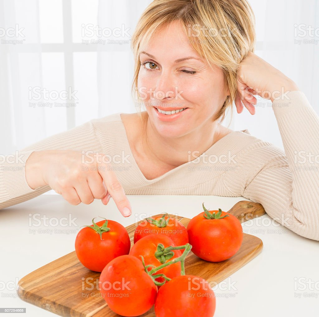 Woman and health. stock photo