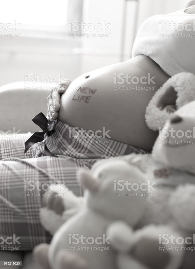Woman and her baby royalty-free stock photo