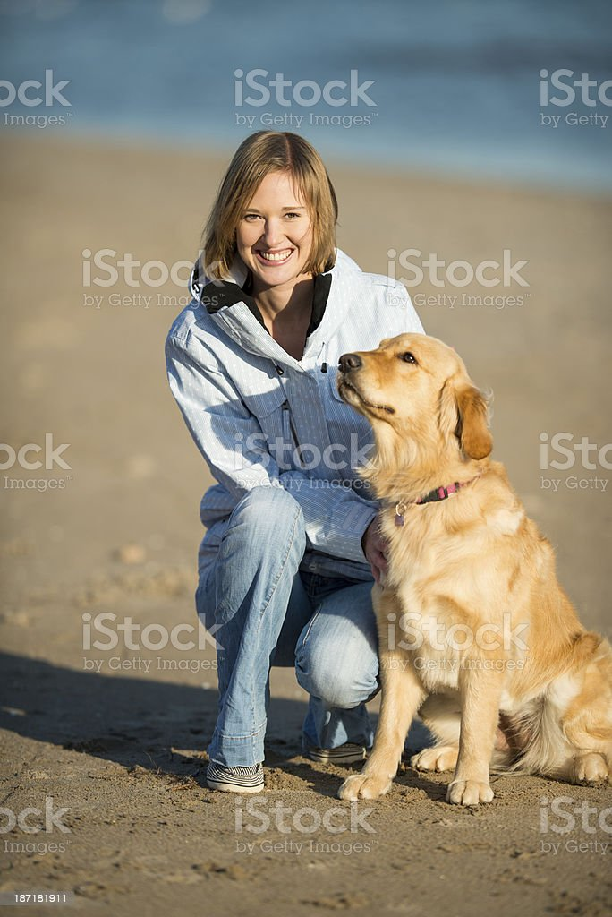 Woman and Her Dog royalty-free stock photo