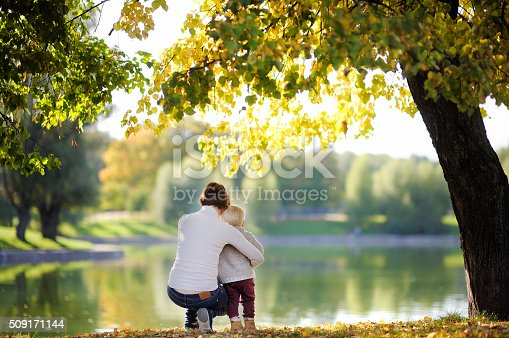 istock Woman and her toddler son in park 509171144