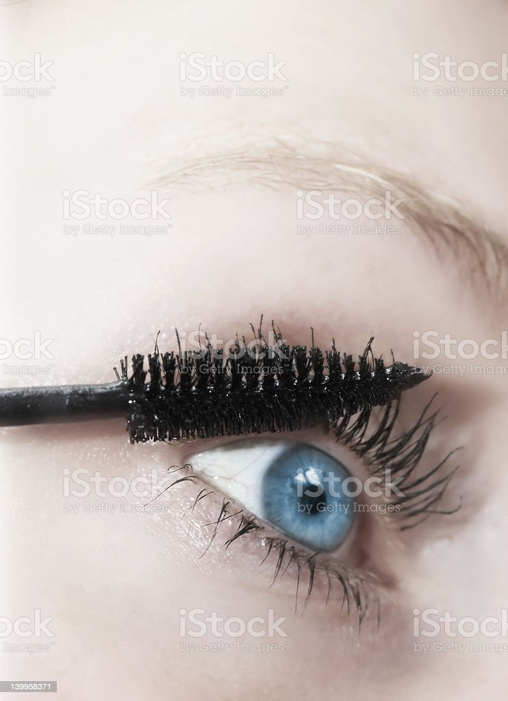 woman and makeup royalty-free stock photo