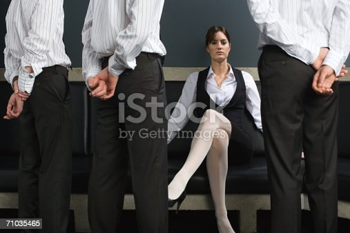 istock Woman and male employees 71035465