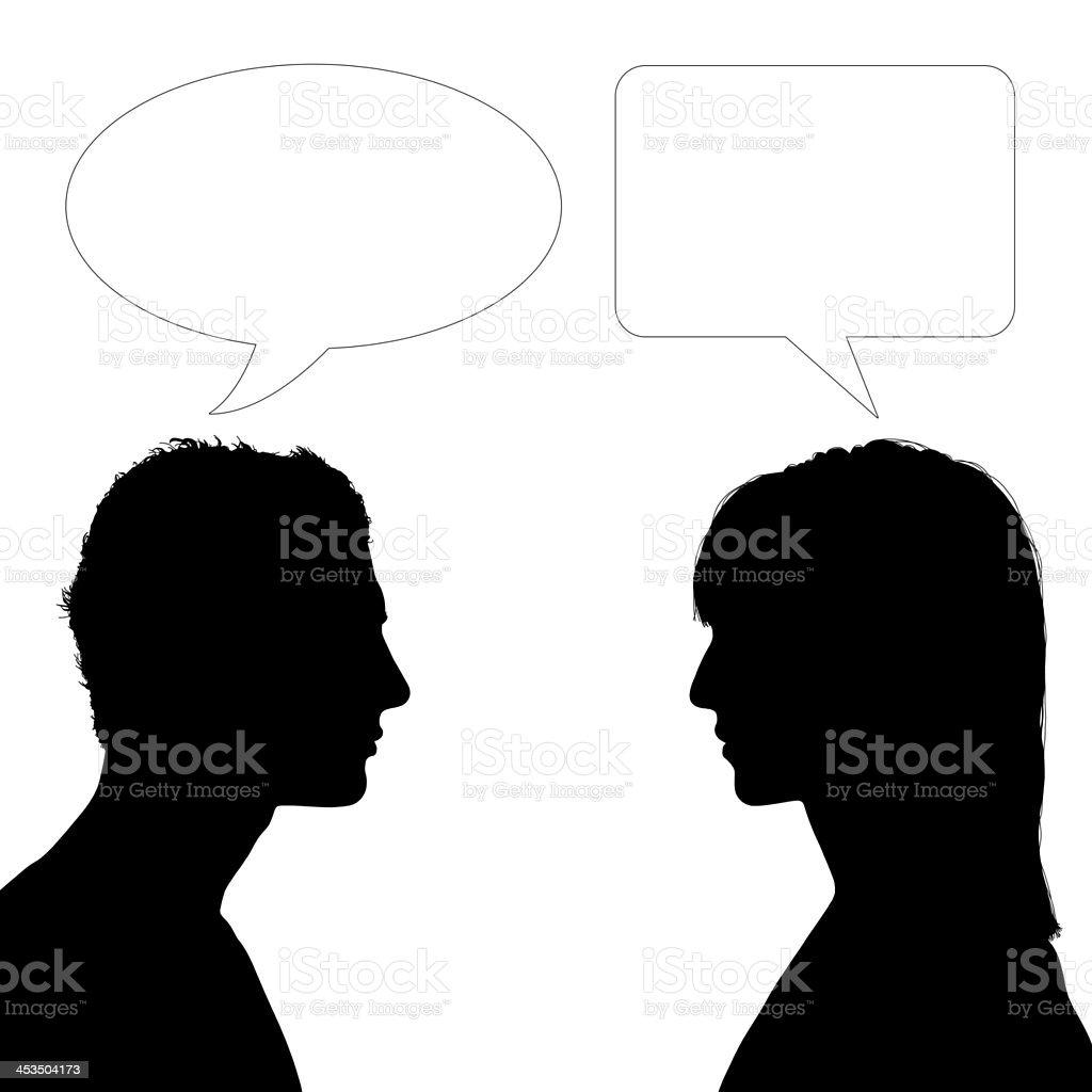 woman and man dialogue royalty-free stock photo