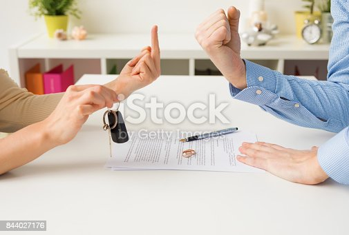 istock Woman and man going through ugly divorce 844027176