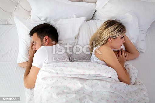istock Woman and man having conflict and going through crisis 896962224