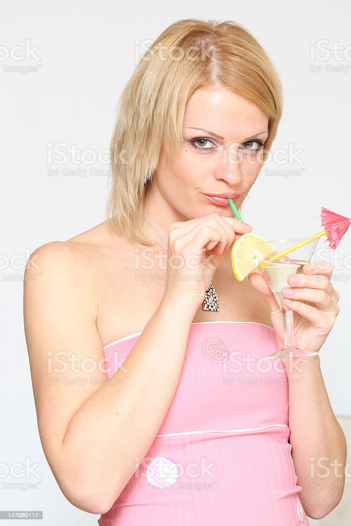 woman and martini royalty-free stock photo