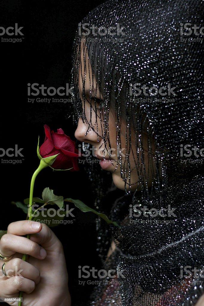 Mujer y rosas 06 foto de stock libre de derechos