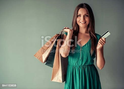 istock Woman and shopping 844153608