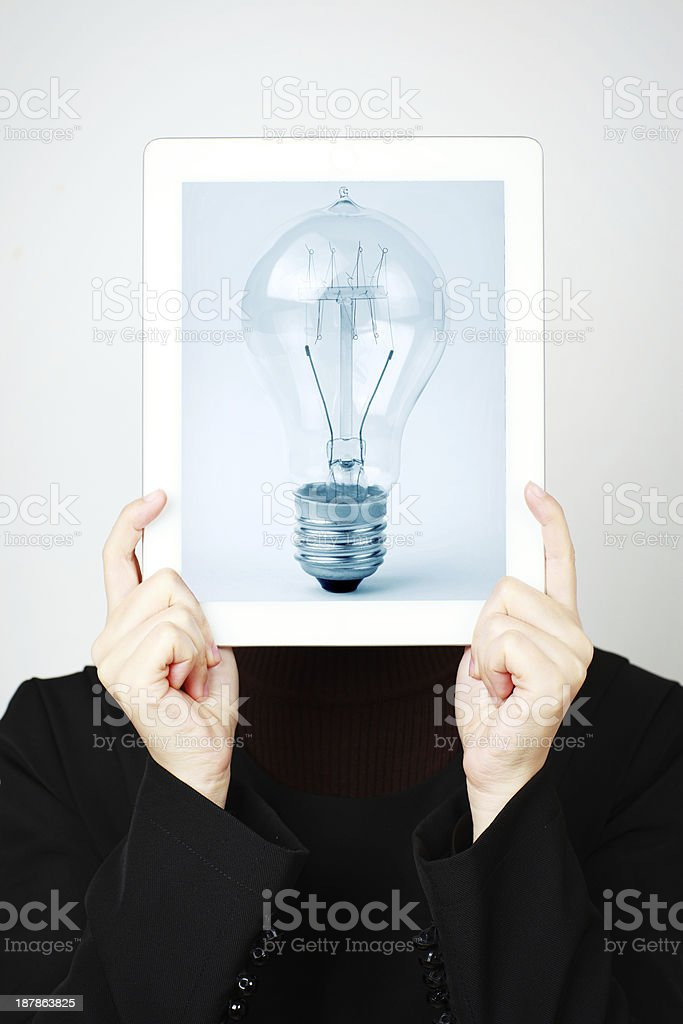 woman and Tablet PC royalty-free stock photo