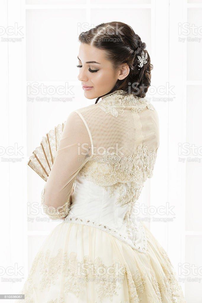 Woman and wedding. stock photo