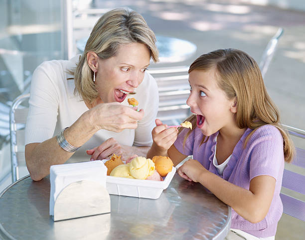 Royalty Free Family Eating Ice Cream Pictures, Images and ...