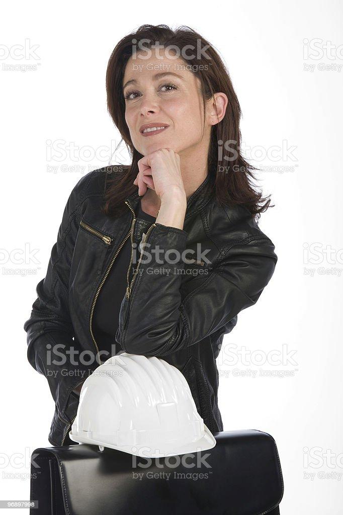 woman architect royalty-free stock photo