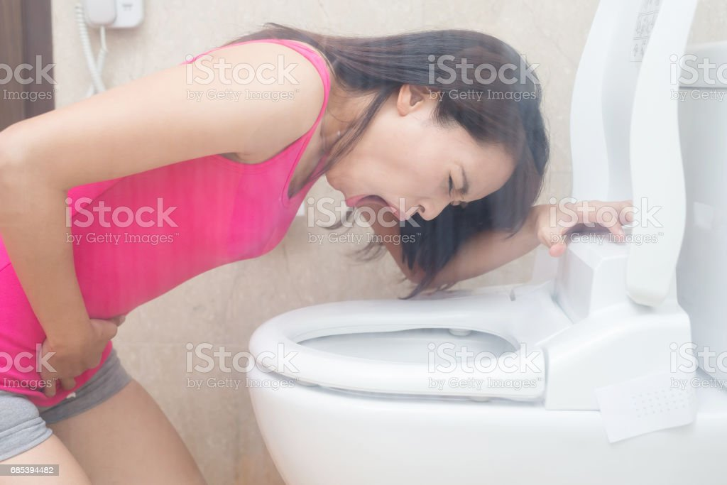 woman are vomiting foto de stock royalty-free