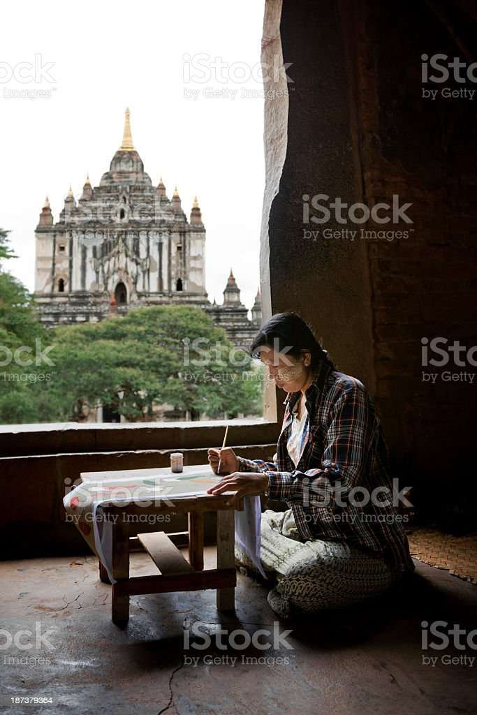 Woman Artist at Work royalty-free stock photo