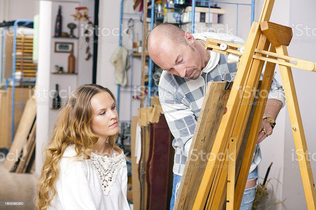 woman artist's studio royalty-free stock photo