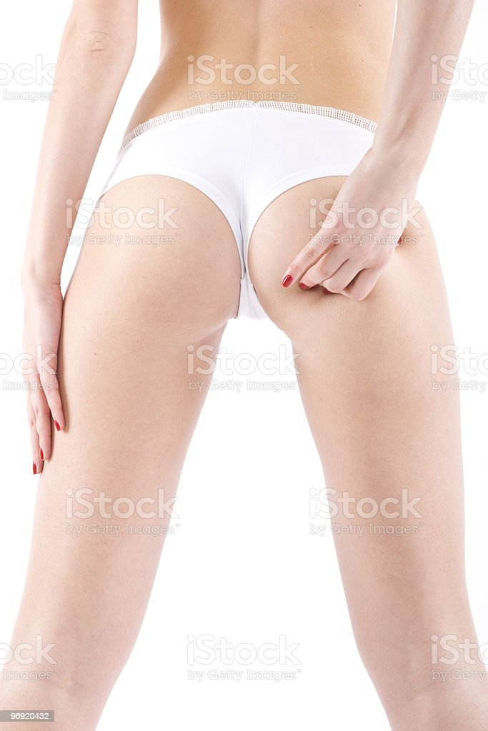 woman ass probe hand royalty-free stock photo