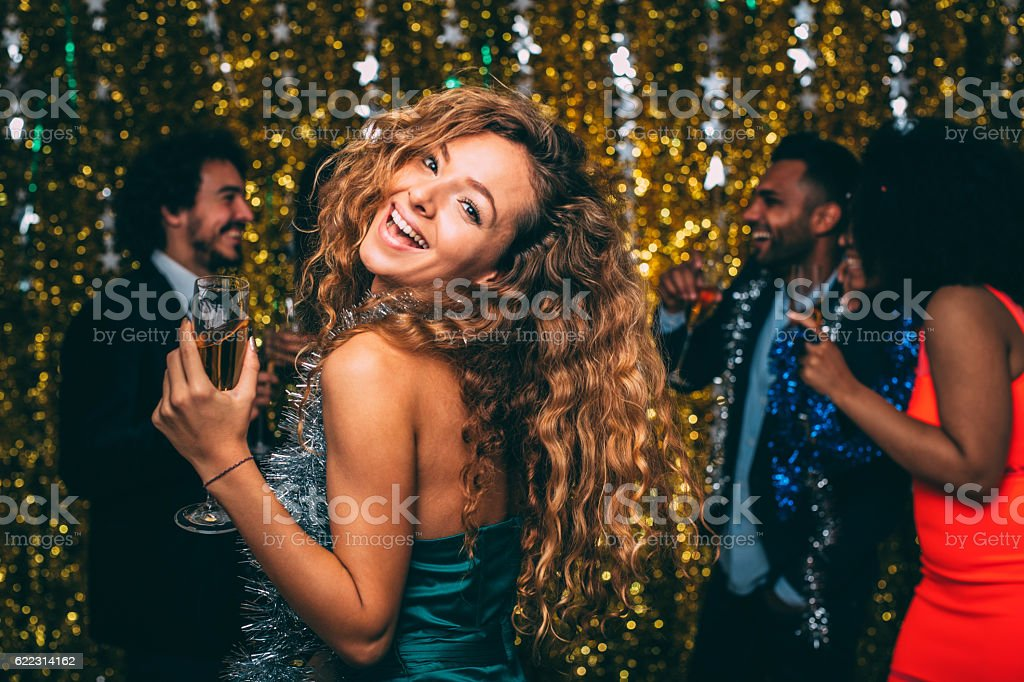 Woman At A New Year's Eve Party – Foto