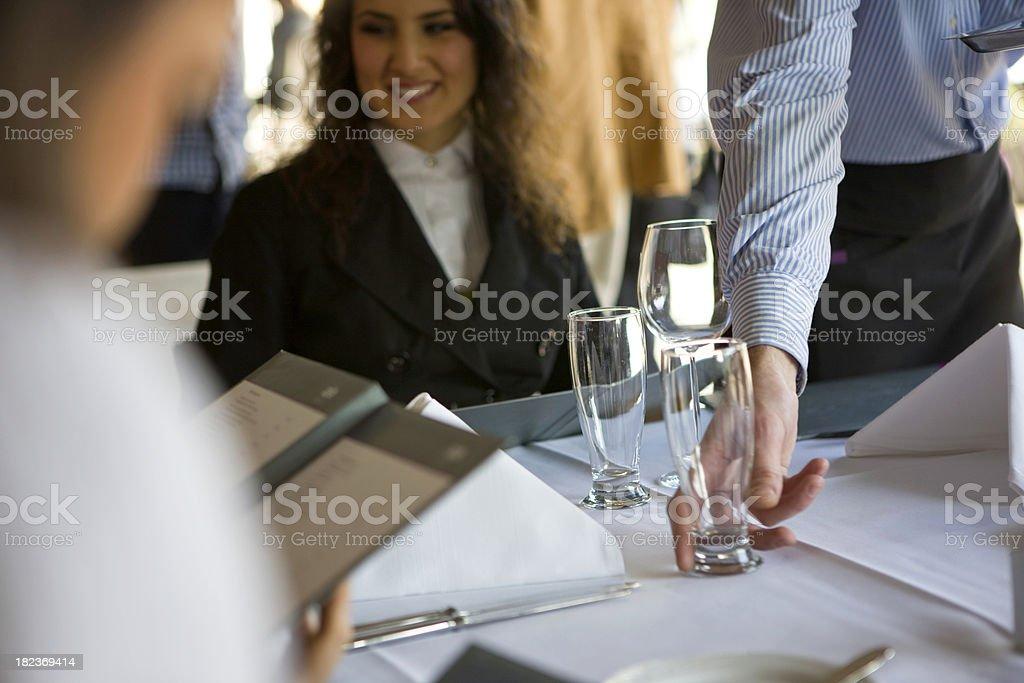 Woman at cafe royalty-free stock photo
