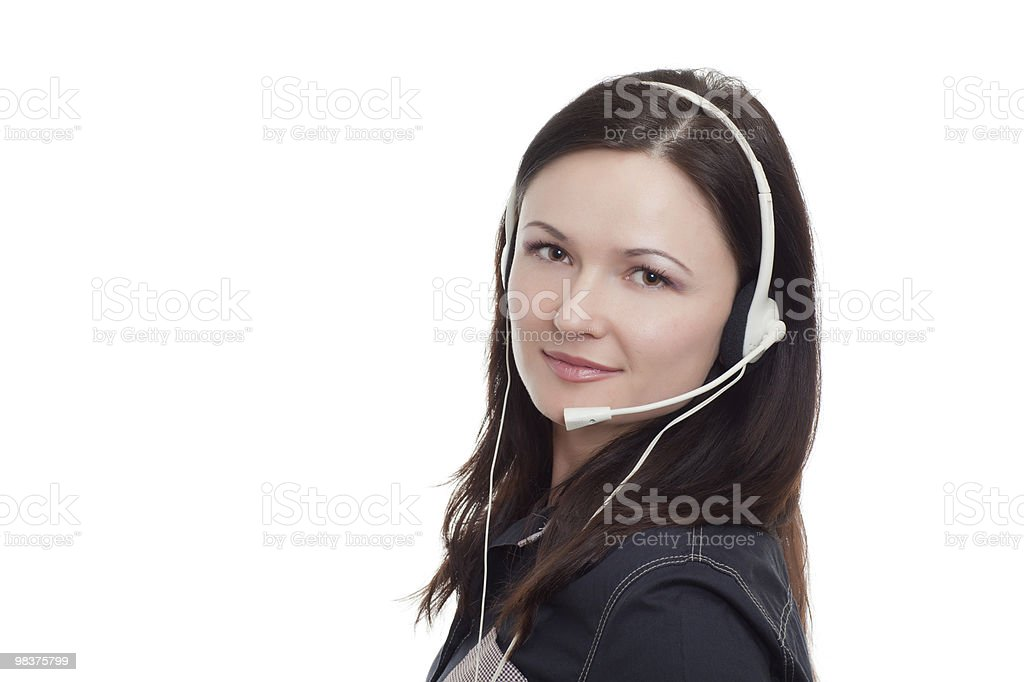 woman at  call-center royalty-free stock photo