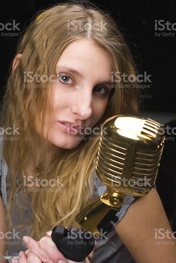 Woman at concert royalty-free stock photo