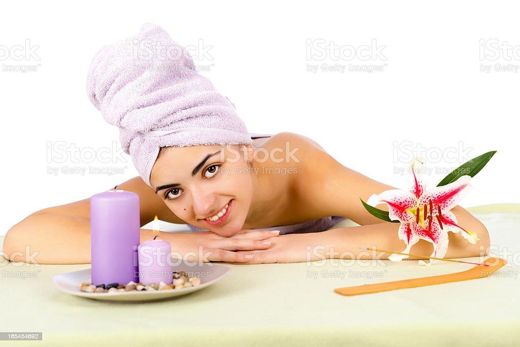 Woman At Daily Spa royalty-free stock photo