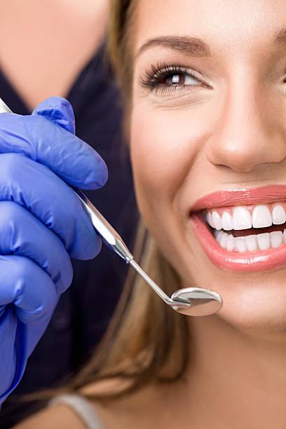 Frau beim Zahnarzt, Dental Pflege – Foto