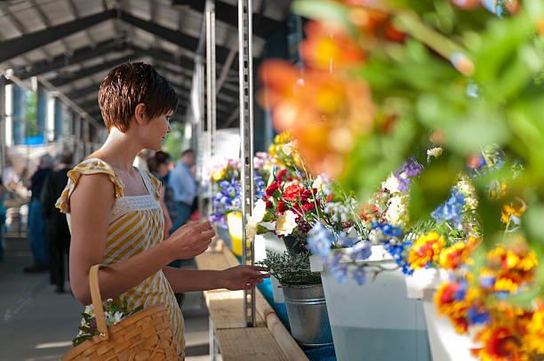 Woman at farmers market with flowers picture id155601896?b=1&k=6&m=155601896&s=612x612&w=0&h=dg8ltijn5 dgohugrssmowxrvmyojbsobsxcddjhf6w=