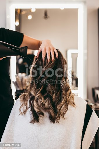 istock Woman at hair salon 1138252732