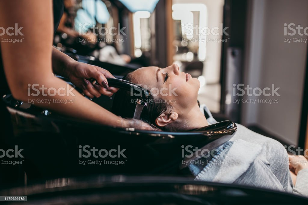 Woman At Hair Salon Stock Photo Download Image Now Istock