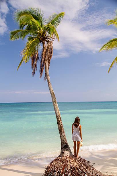 Frau im paradise beach – Foto