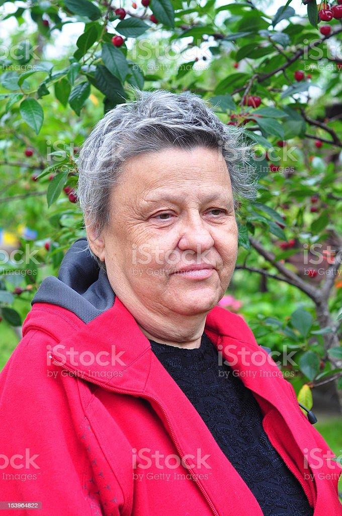 woman at park royalty-free stock photo