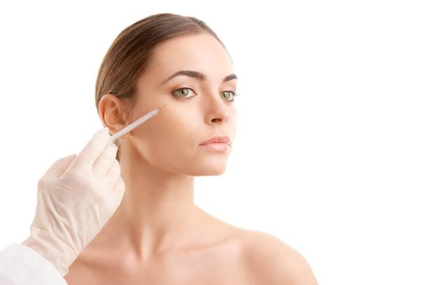 Frau am plastische Chirurgie – Foto