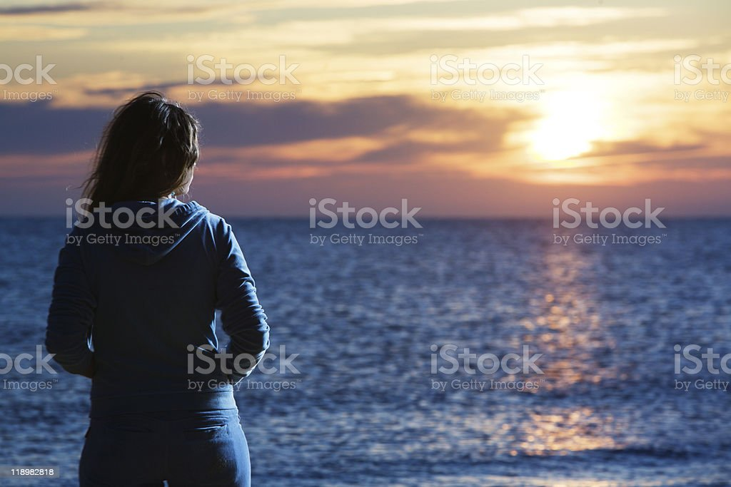 Woman at sea royalty-free stock photo