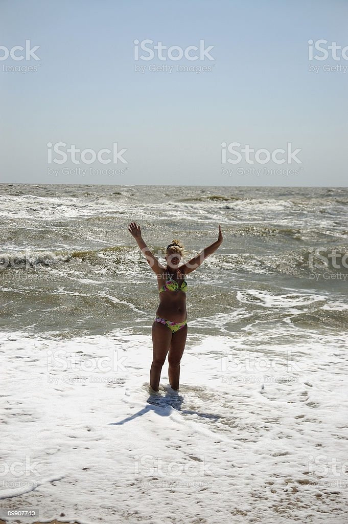 Donna in mare. foto stock royalty-free