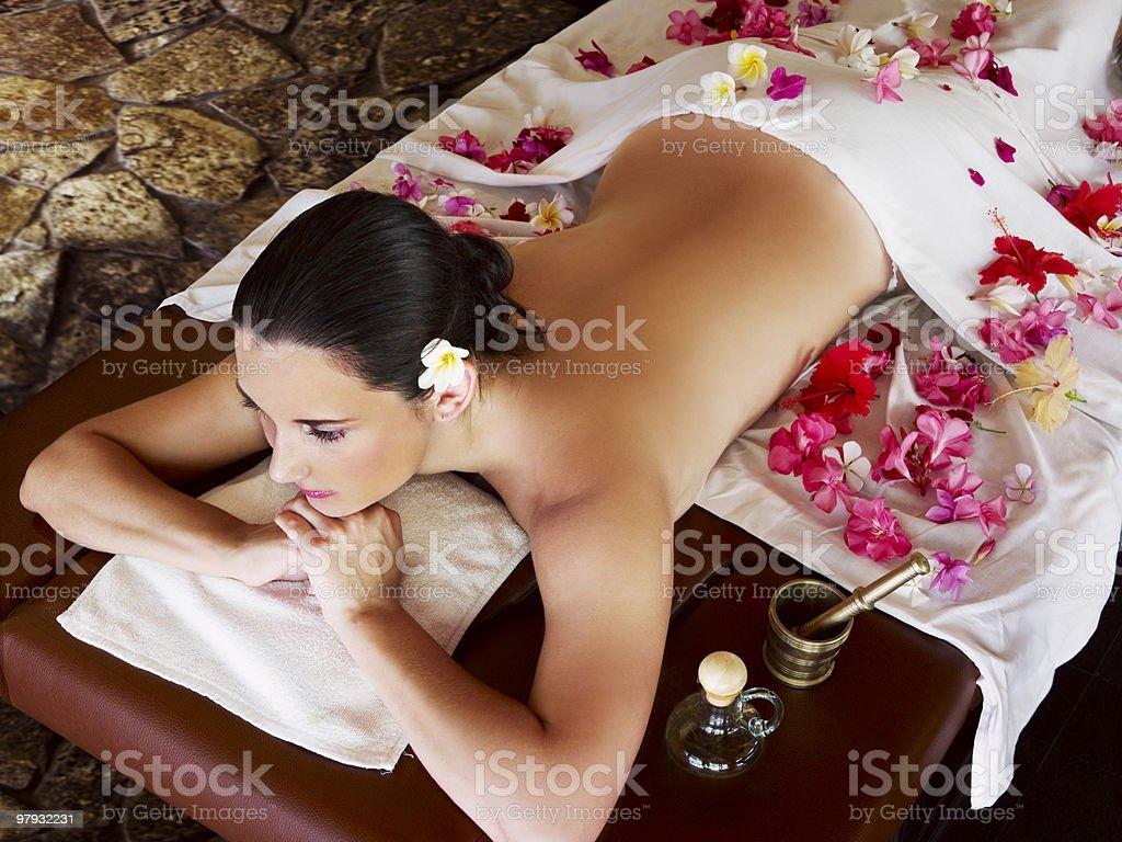 Woman at spa centre royalty-free stock photo