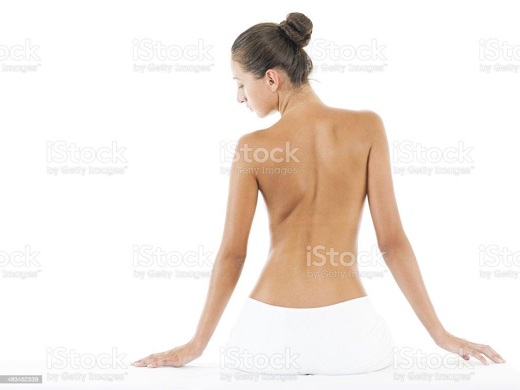 Woman at spa stock photo