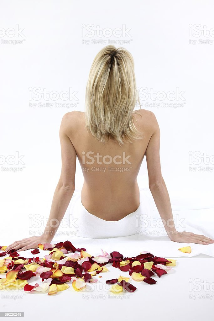 Woman at spa royalty-free stock photo