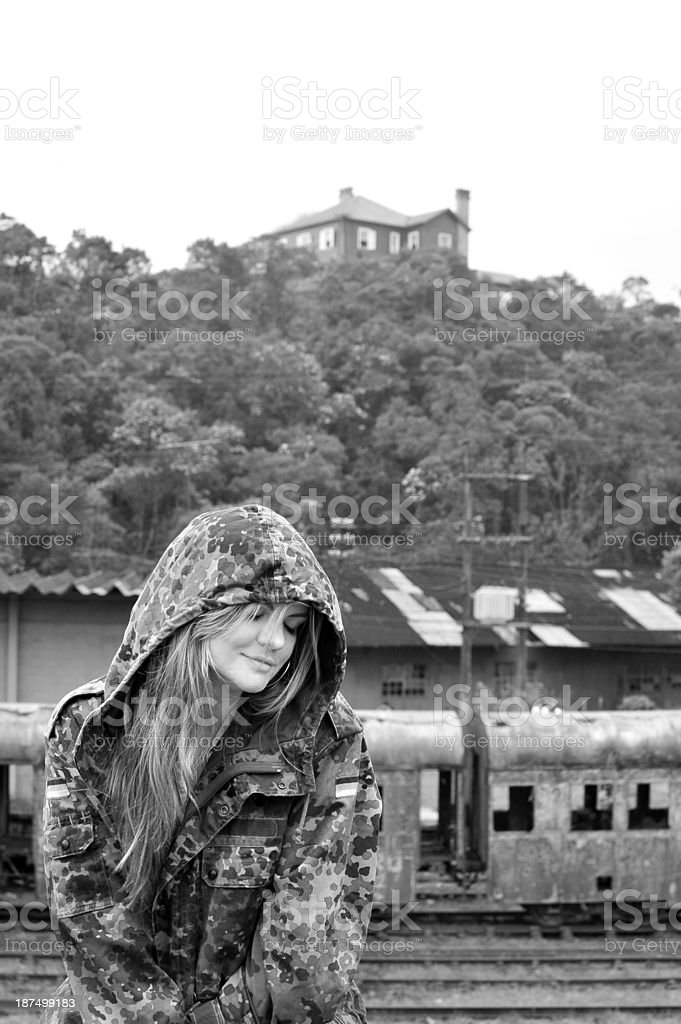 Woman at Station royalty-free stock photo