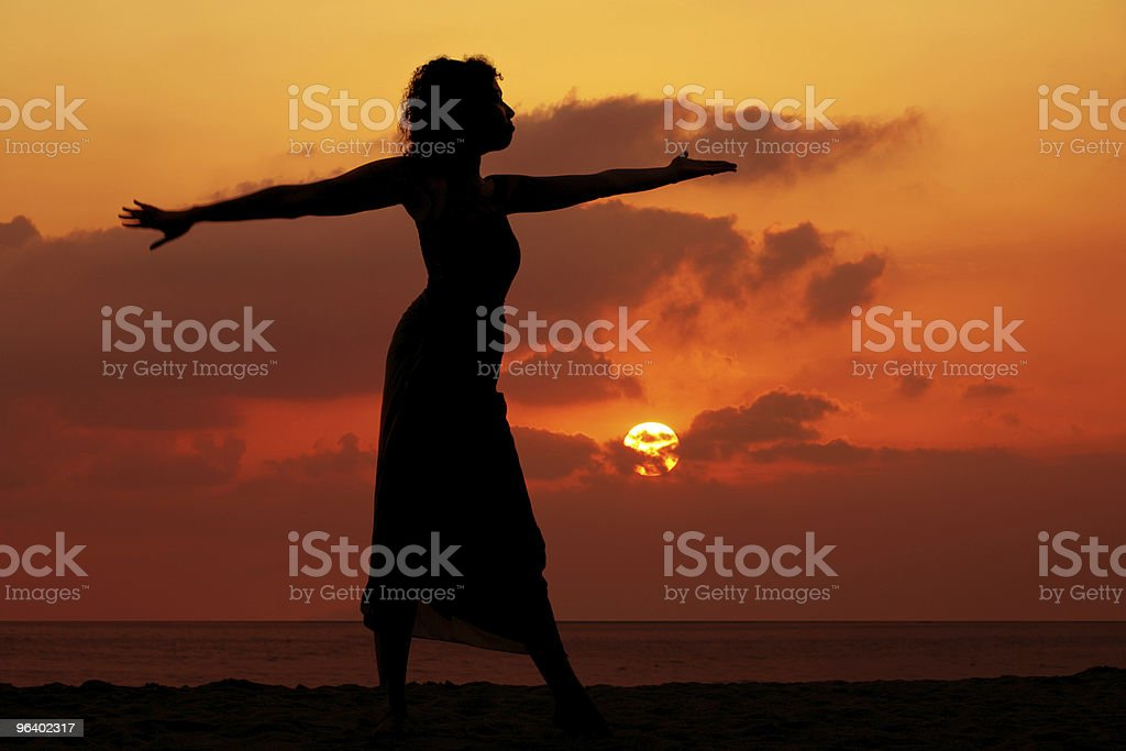 Woman at sunset - Royalty-free Africa Stock Photo