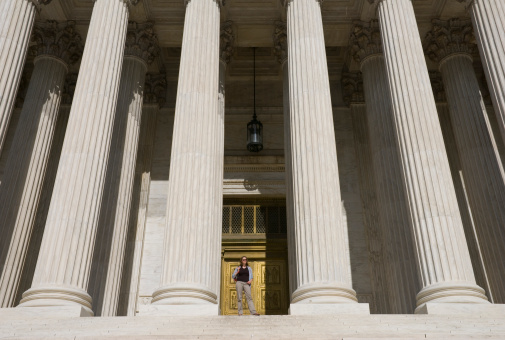 Woman At Supreme Court Stock Photo - Download Image Now