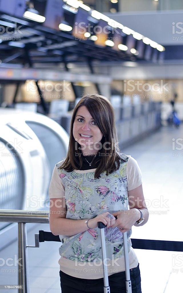 Woman at the airport royalty-free stock photo