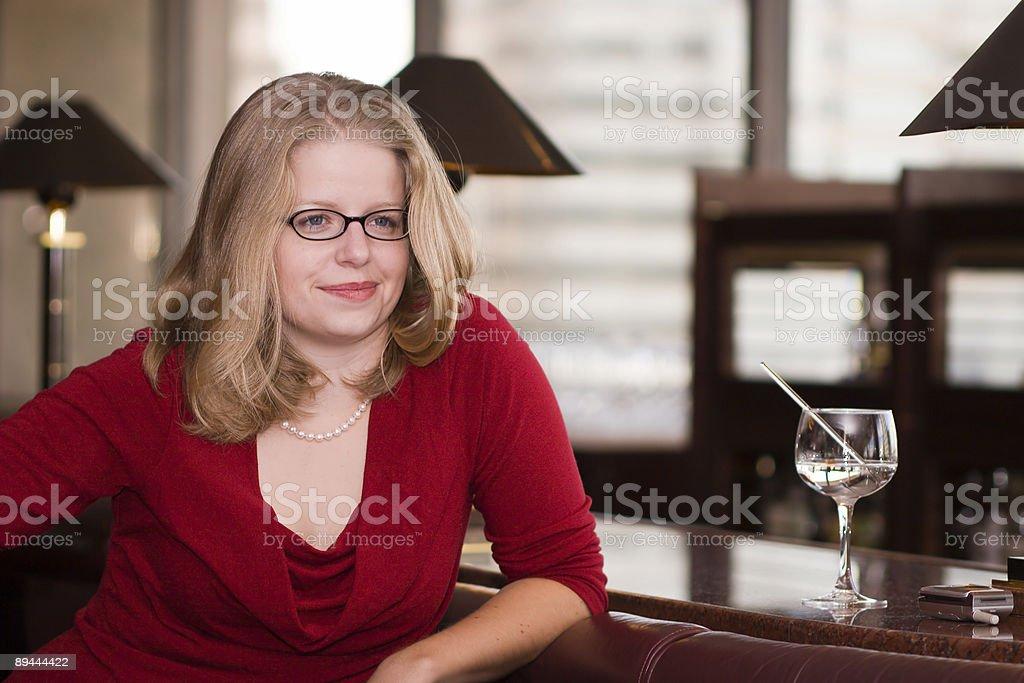 Woman at the Bar royalty-free stock photo