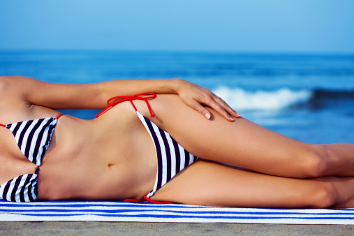 Woman At The Beach Stock Photo - Download Image Now